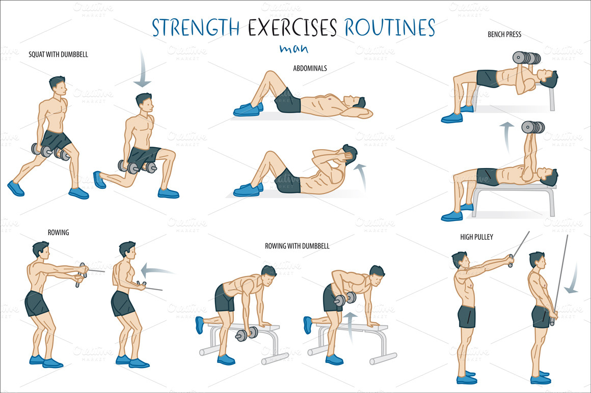 gallery images and information weight lifting exercises for men