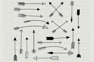 arrow draw hand clipart drawn creative chalkboard border sa indian illustrations