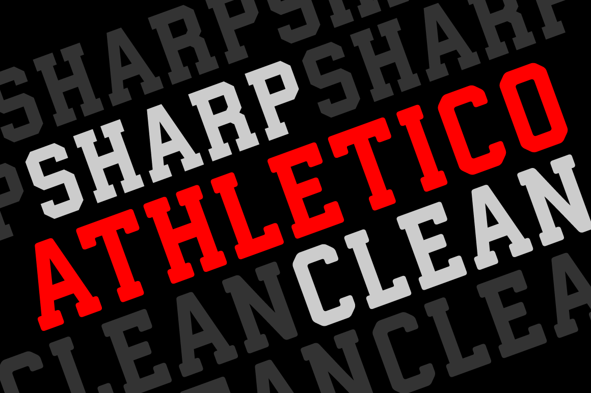 Athletico Clean Sharp Display Fonts On Creative Market