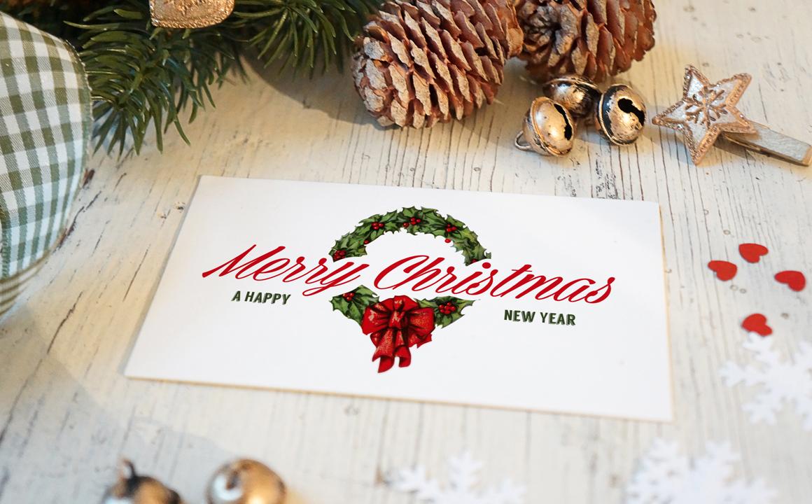 Christmas New Year Card Mockup Product Mockups On