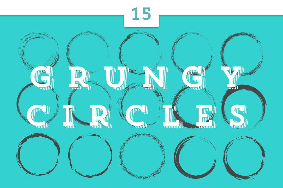 15 Grungy Circles 30 Off Objects On Creative Market