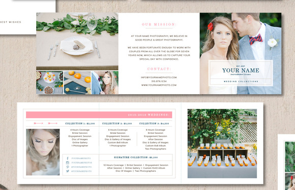 Price List For Wedding Photographers Brochure Templates
