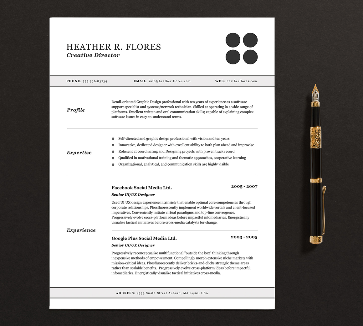 My Resume Is 2 Pages 3 Pages Resume Cv Template Full Set Resume Templates On