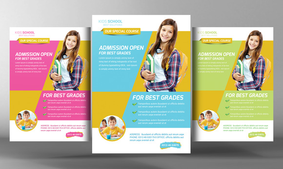 Kids School Education Flyer Template Flyer Templates On