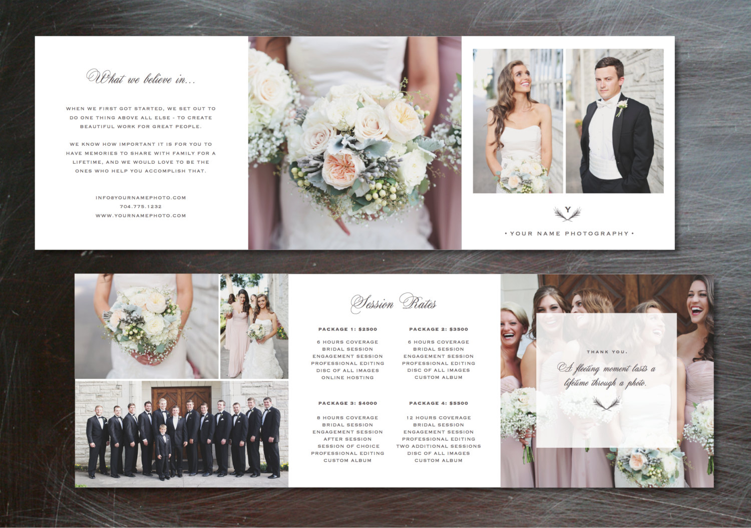 Template Trifold Pricing Guide Brochure Templates On