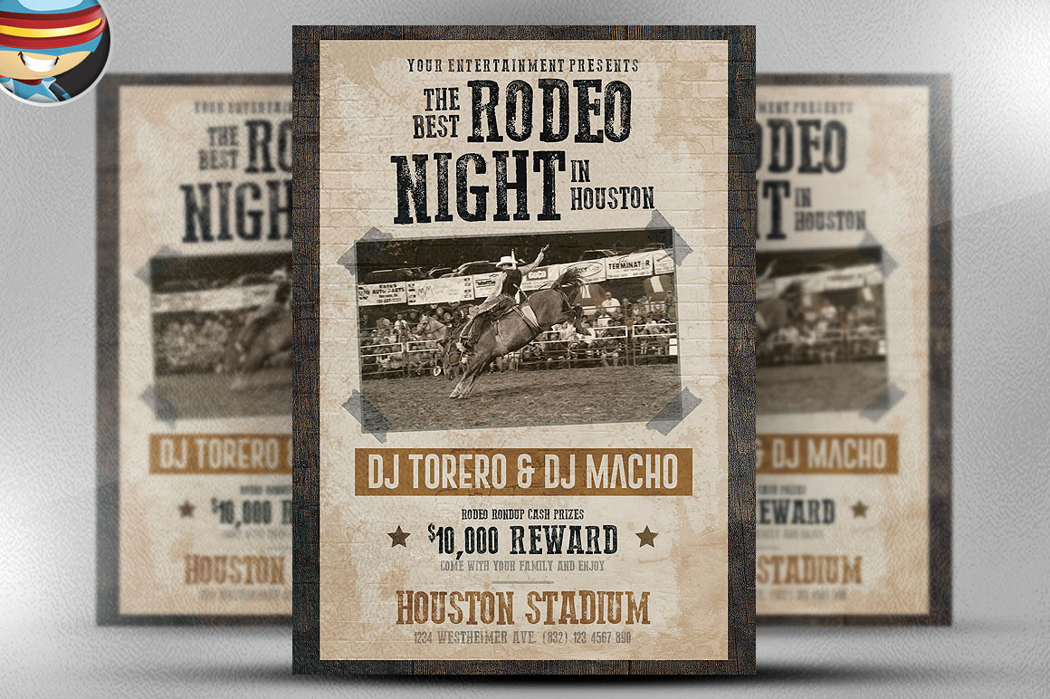 Rodeo Night Flyer Template Flyer Templates On Creative