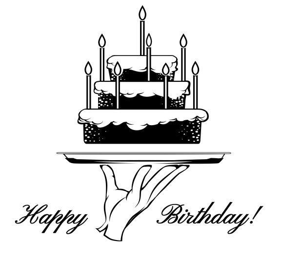 Birthday Black And White Vector Images » Designtube