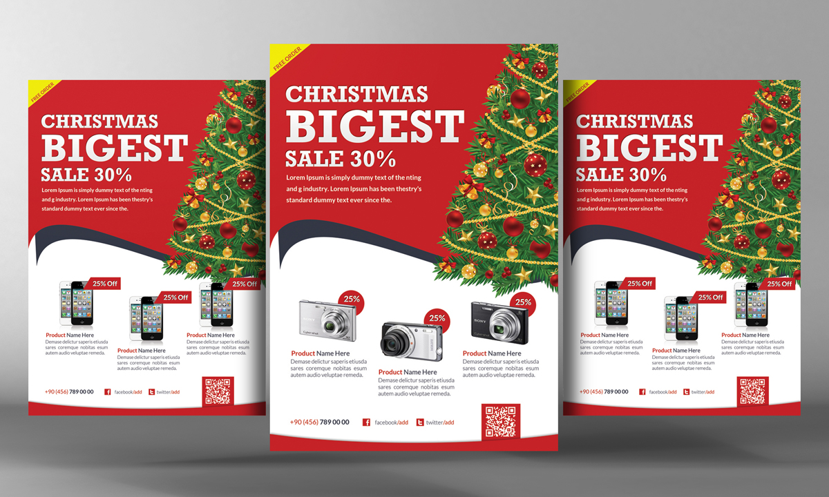 Christmas Products Flyer Template Flyer Templates On