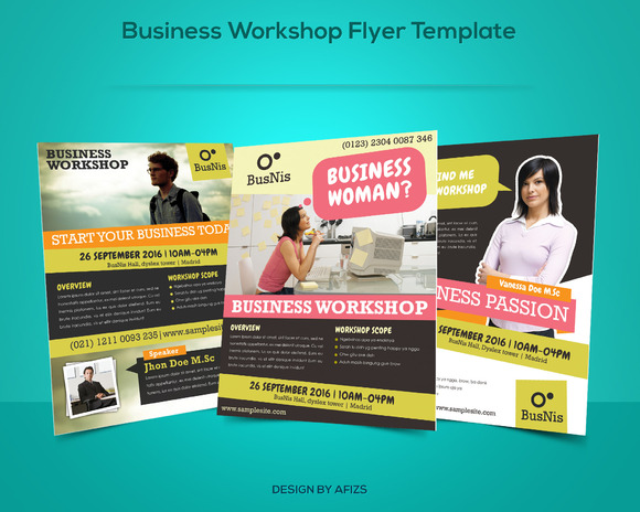 Business Workshop Promotion Flyer Flyer Templates On