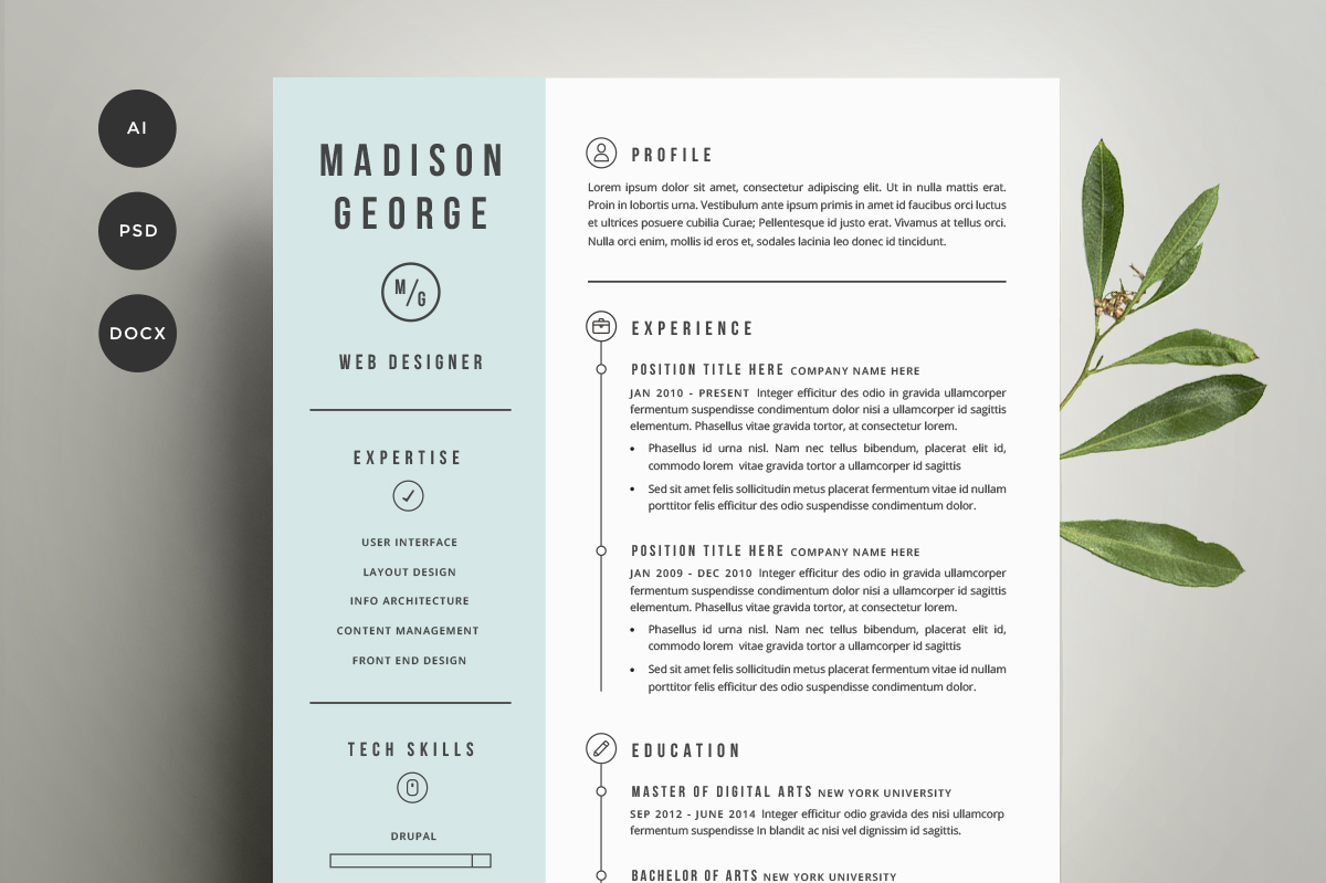 free resume templates for creatives