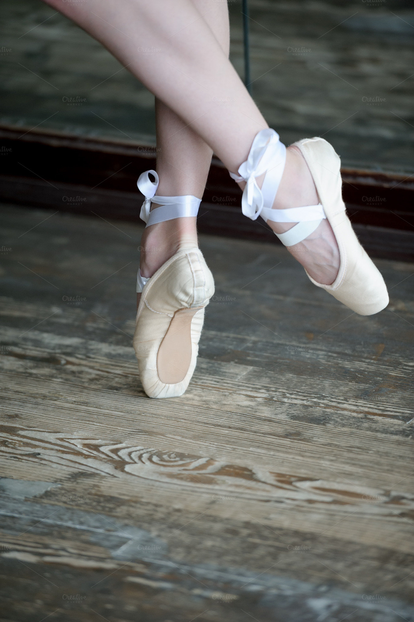 Person On Pointe Shoes
