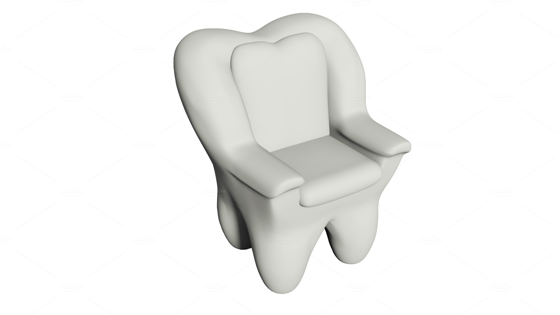 weird shaped chairs cotton director chair covers the quottooth armchair quot graphics on creative market