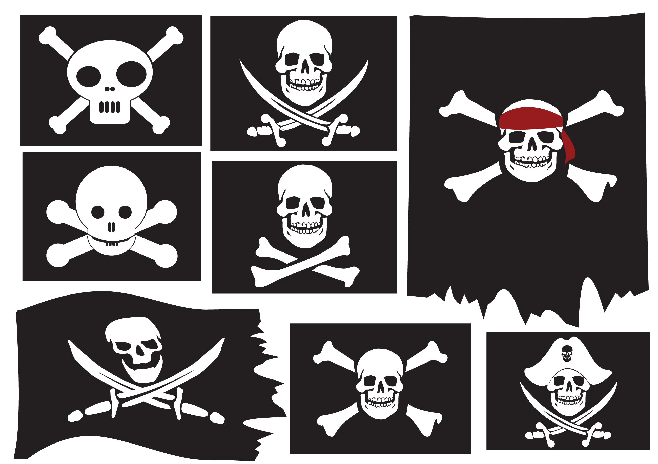 Skull And Crossbones Pirate Flags Objects On Creative