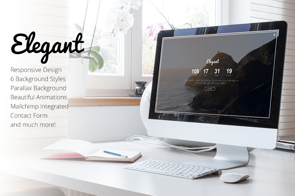 Elegant  Coming Soon Template  Bootstrap Themes On
