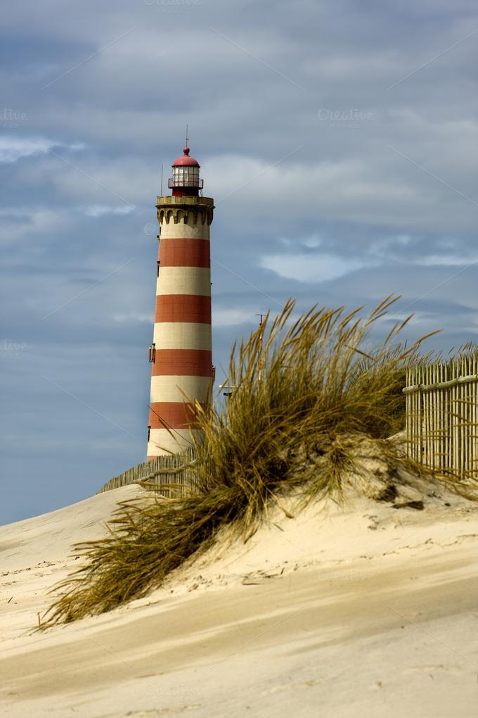 landscape lighthouse beach