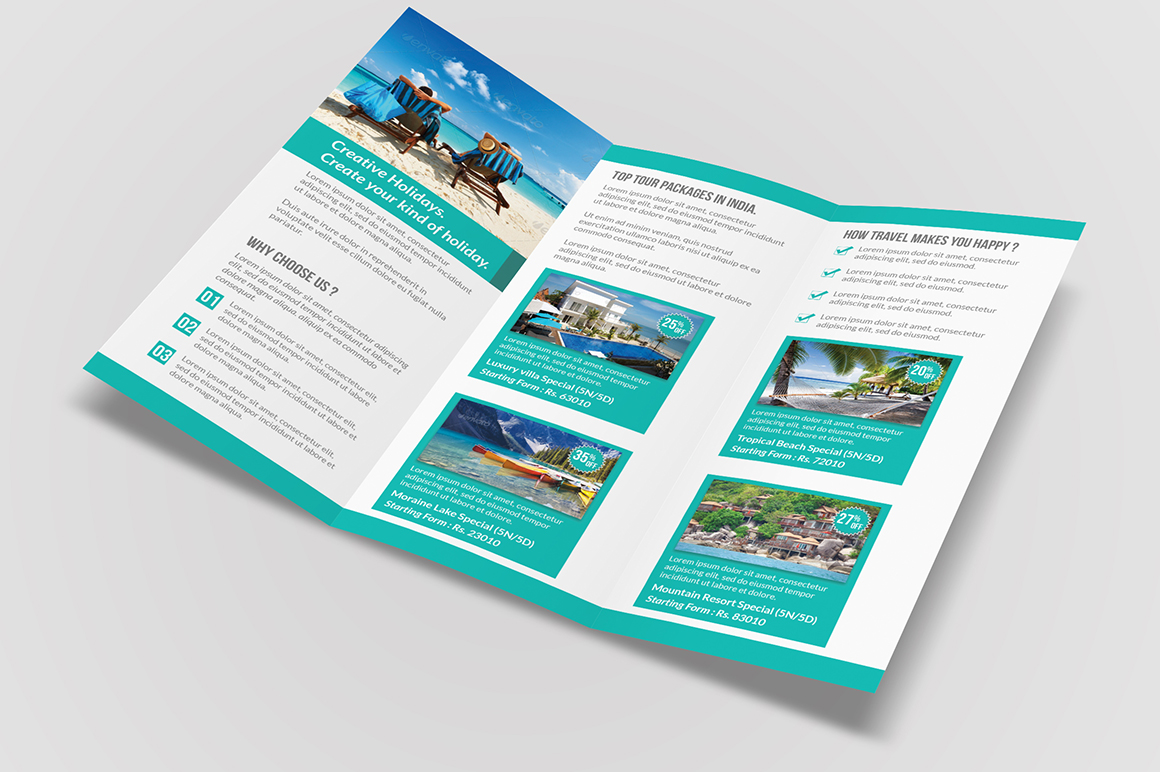 Travel Tri Fold Brochure Brochure Templates On Creative