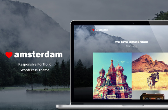 Amsterdam - Responsive Portfolio WP