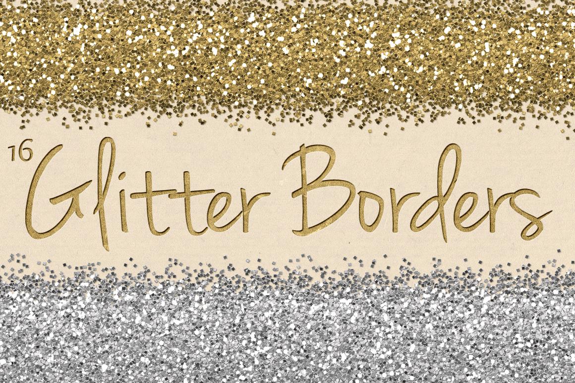 digital glitter borders clipart
