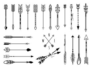 arrows drawn hand creative graphics arrow market