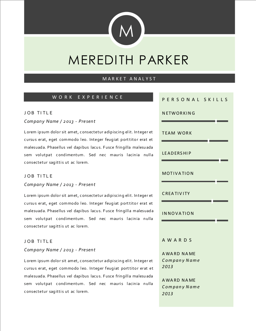Elegant 3 In 1 Word Resume 2 Pages Resume Templates On
