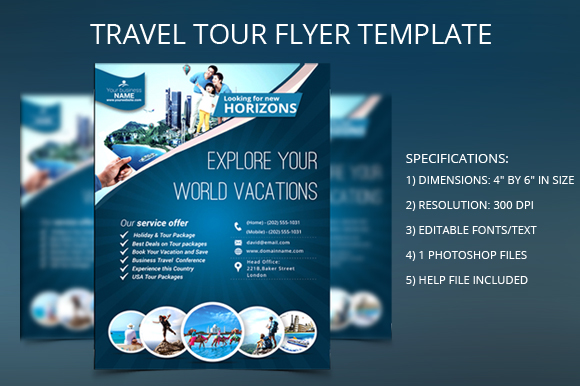 TRAVEL TOUR FLYER TEMPLATE Flyer Templates On Creative