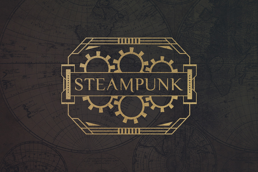 12 Steampunk Badges Amp Cogs Logo Templates On Creative Market