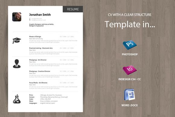 Minimal Curriculum Vitae CV Resume Resume Templates On