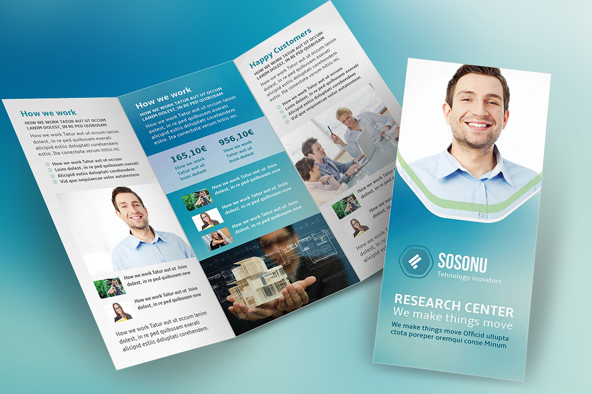 Clean Business Trifold Brochure Brochure Templates On