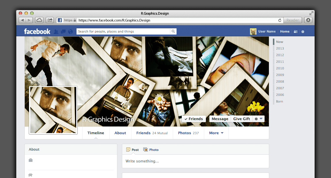 FB Timeline Cover Photo Frames Web Elements On Creative