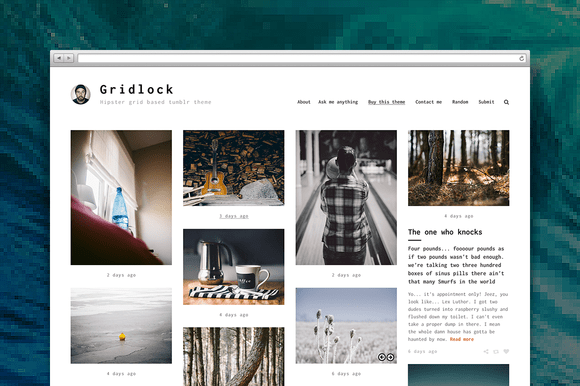 Gridlocked tumblr theme