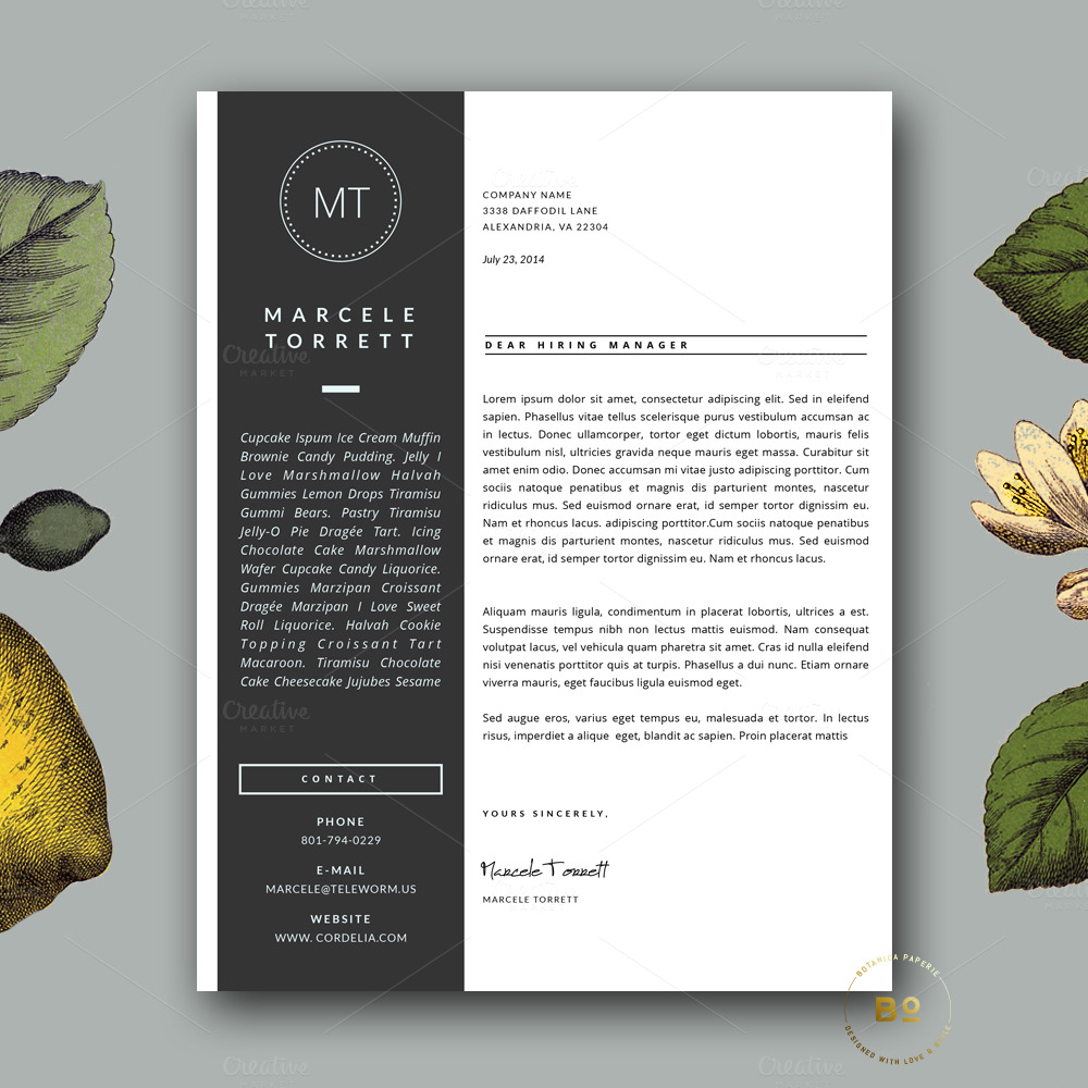 Modern CV Template For Word Resume Templates On Creative