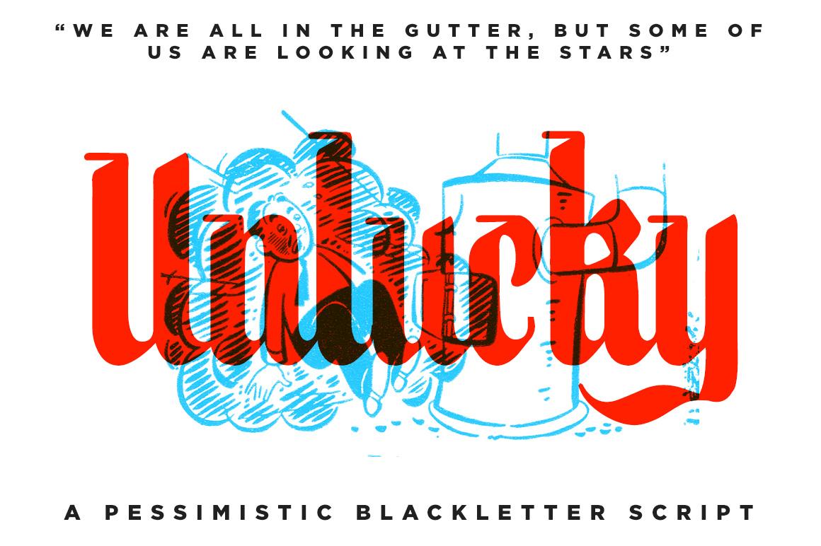 Unlucky BlackLetter Font Blackletter Fonts On Creative