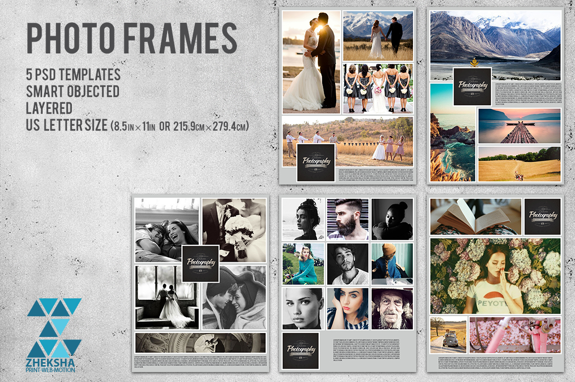Photo Frames Collages Templates on Creative Market