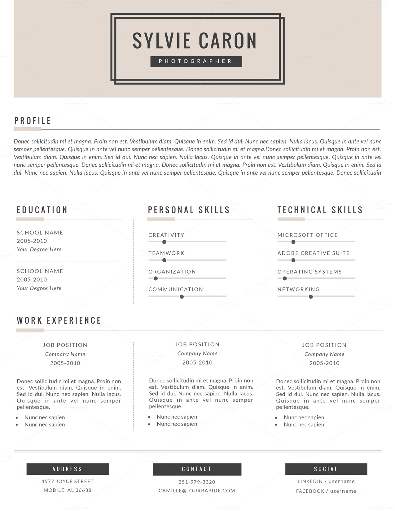 Hipster Cv Template For Ms Word Resume Templates On