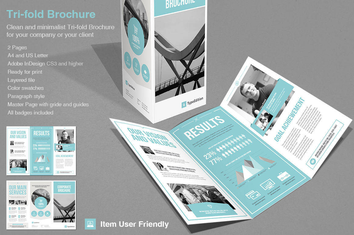 Trifold Corporate  Brochure Templates on Creative Market
