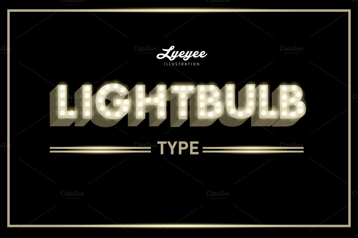 Lightbulb Font Typeface Illustrations On Creative Market