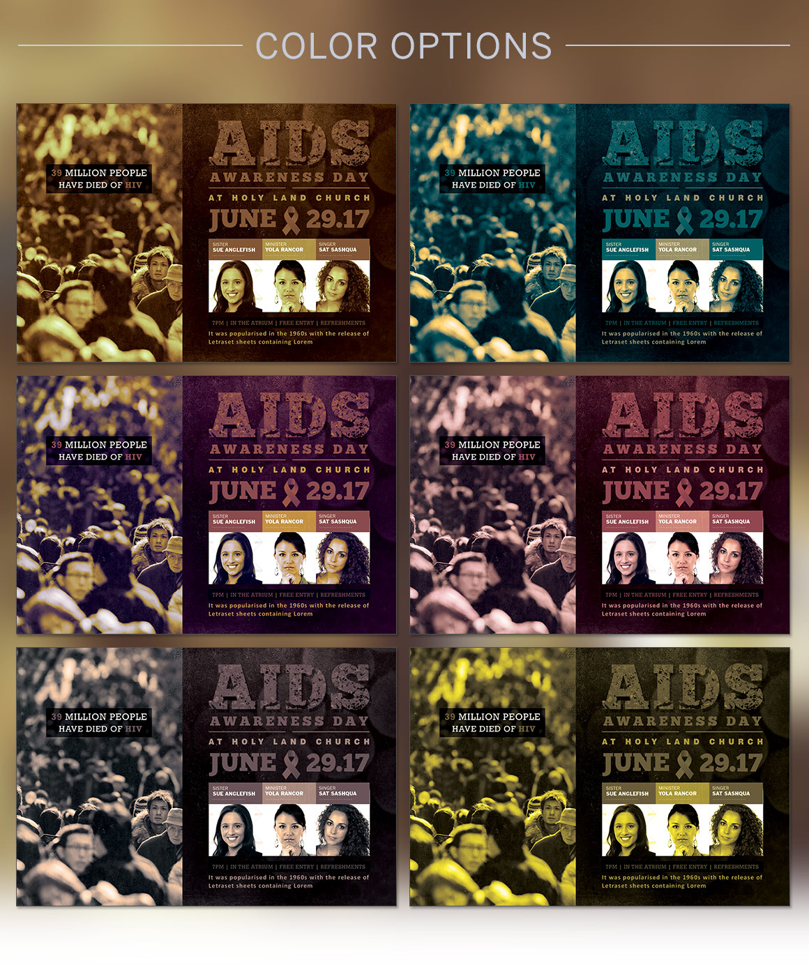 Aids Awareness Church Flyer Template Templates Creative Market