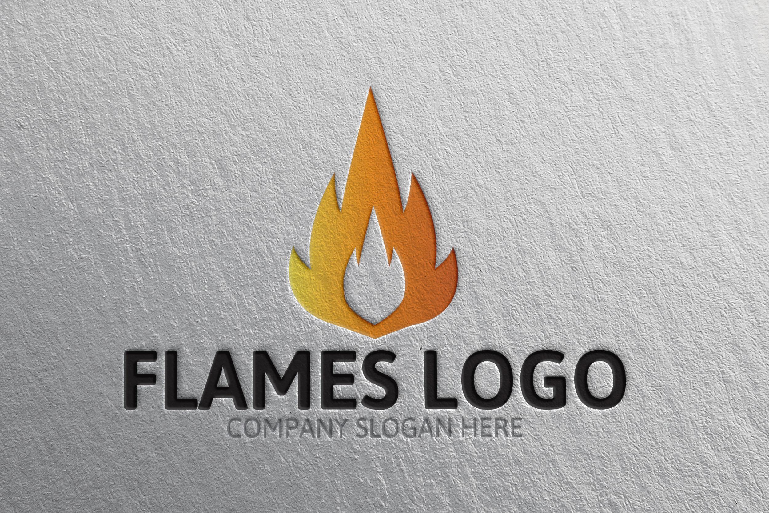 Flames Logo -40 Templates Creative Market