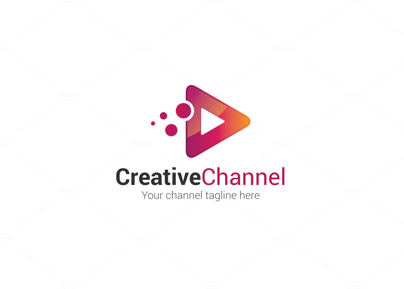 Creative Channel Logo Logo Templates On Creative Market