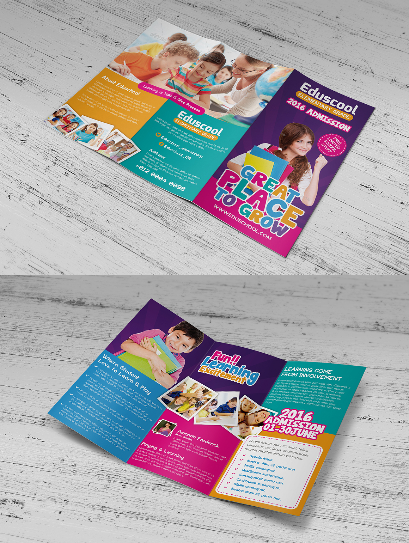 Elementary School Education Trifold Brochure Templates