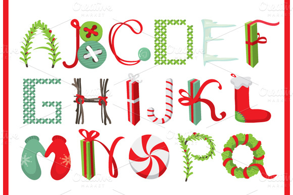 christmas lettering objects