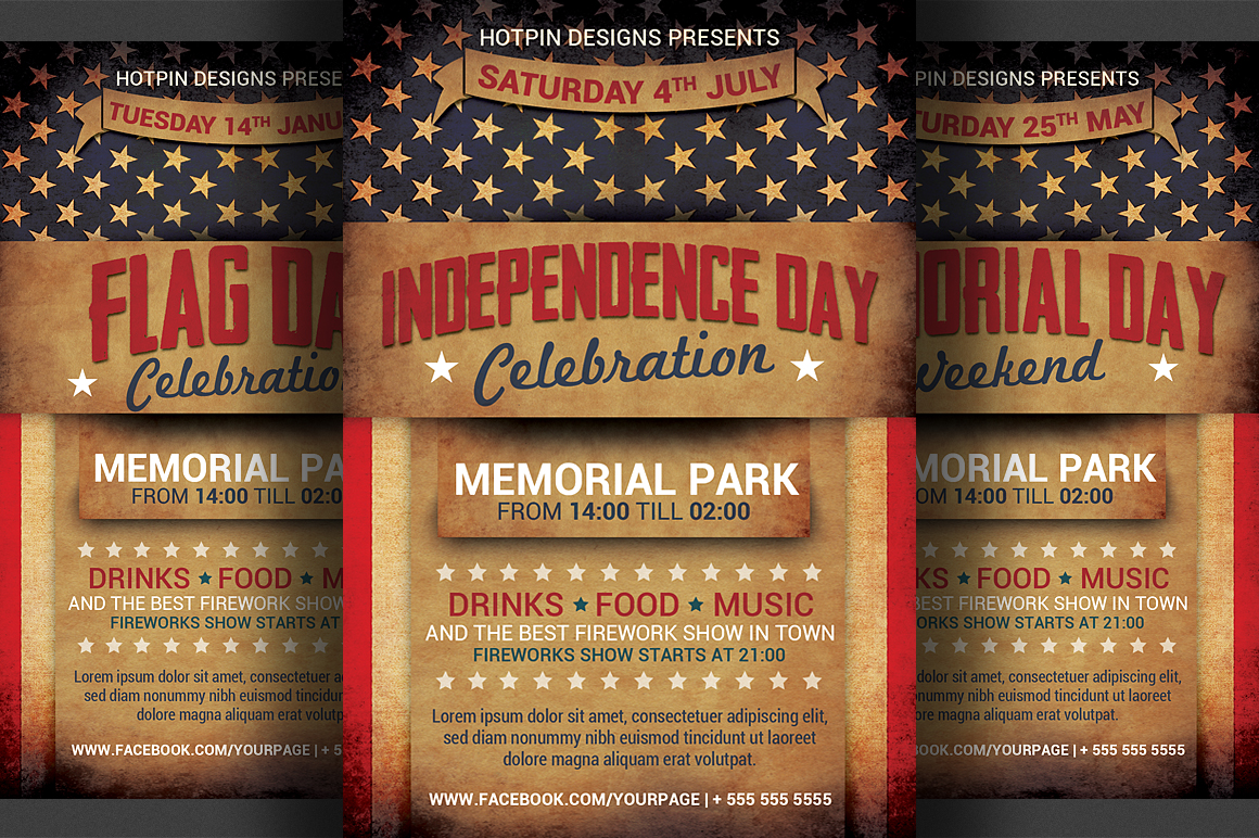4th JulyIndependence Day Flyer  Flyer Templates on
