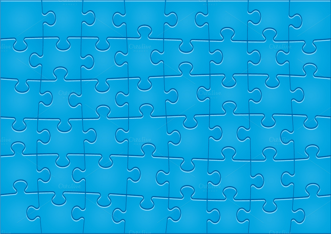 Jigsaw Puzzle Pattern 48 pieces  Illustrations on Creative Market