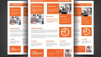 computer repair flyer template