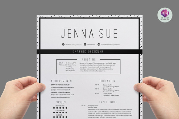 Modern Chic CV Template Resume Templates On Creative