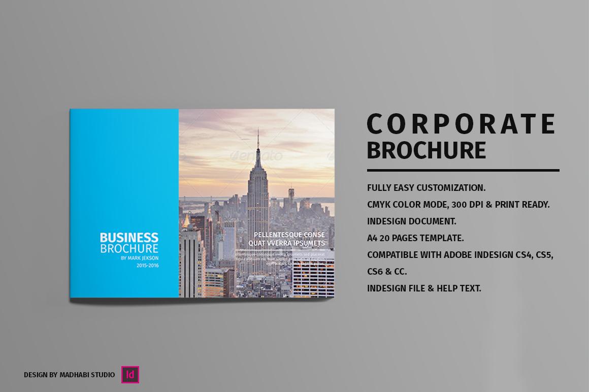 Landscape Corporate Brochure Brochure Templates On