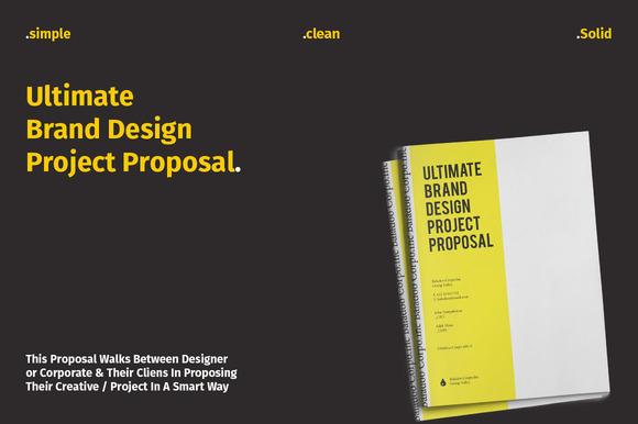 Ultimate Brand Design Proposal Stationery Templates On