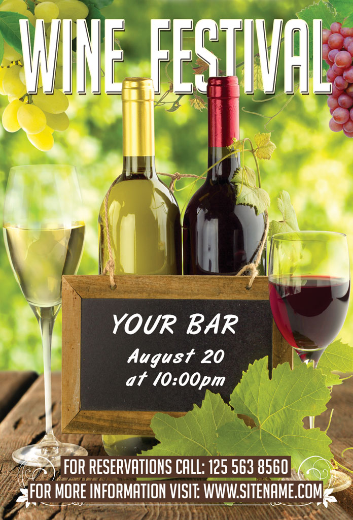 Wine Festival Flyer  Flyer Templates on Creative Market