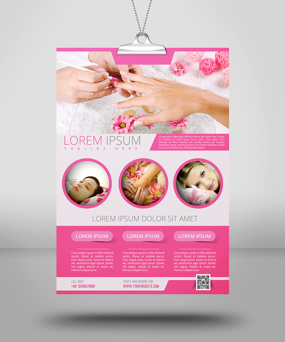 Spa Amp Beauty Flyer Template Flyer Templates On Creative
