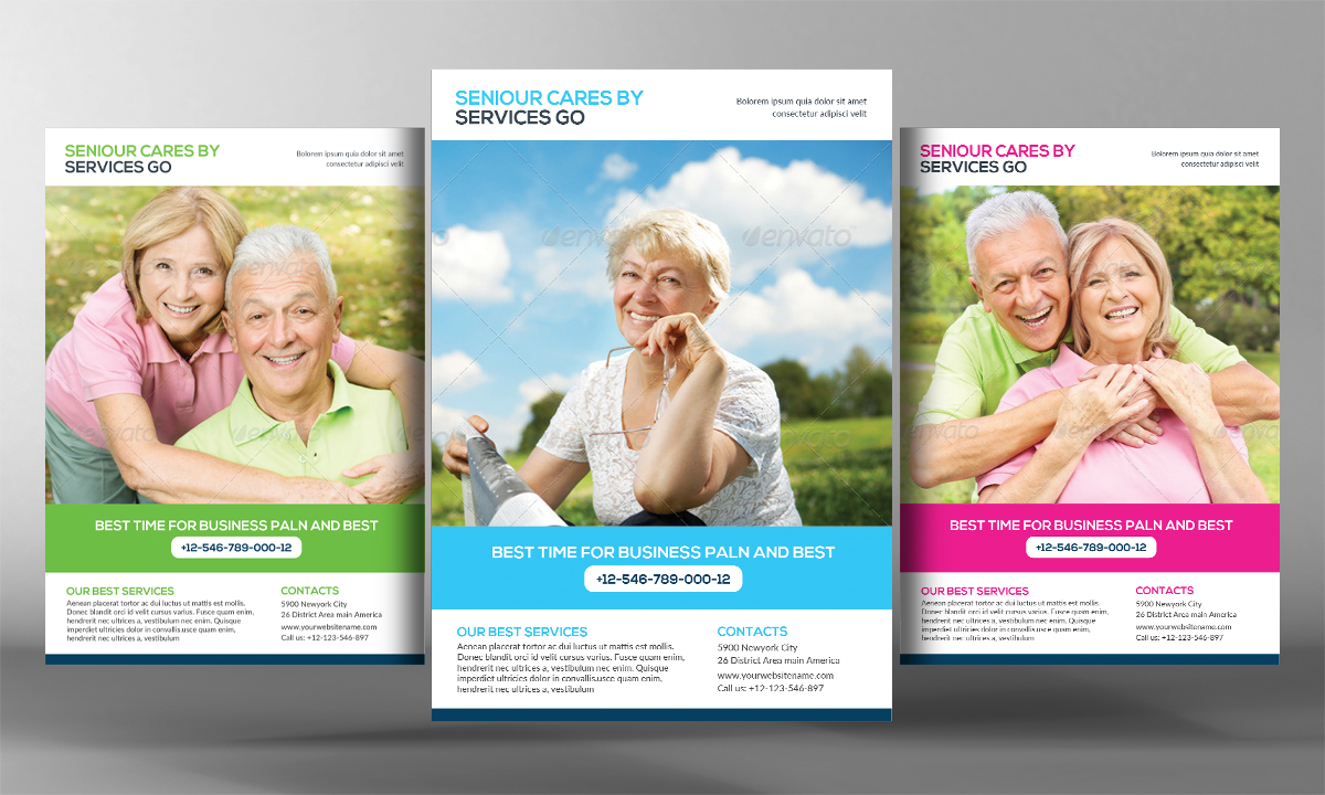 Senior Care Flyer Template Flyer Templates On Creative Market